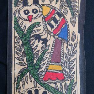 Birds on a Tree Madhubani Painting