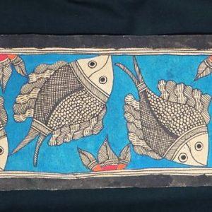Fish in Water Madhubani Painting