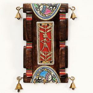 Key Hanger with Indian Tribal Metal Art