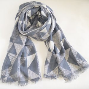 Grey and White Triangles with Short Fringes