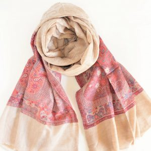 100% Cashmere Paisley and Floral Beauty
