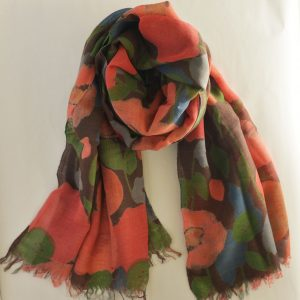 Floral Delight Cotton Wool Stole