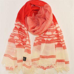 Handmade Jamdani Print Soft Wool Stole