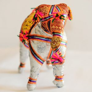 Cute and Colorful Hand Stitched Indian Elephant