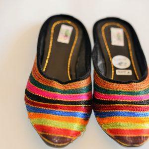 Rainbow Pattern Handmade Indian Shoes