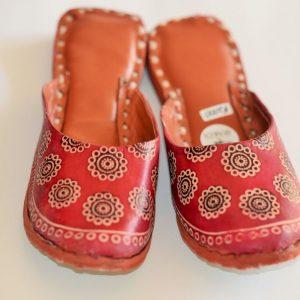 Flower Motif Handmade Indian Shoes