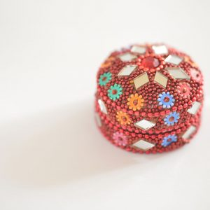 Glass Encrusted Small Containers