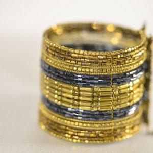 Golden & Navy Blue Bracelet