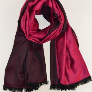 Dual Tone Luxurious Modal (Rayon) Stole /Pink-Black