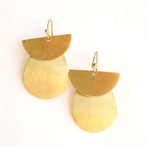 Half Drop Golden Earring