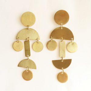 Golden Drop Hanging Earrings