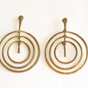 Triple Ring Golden Earring