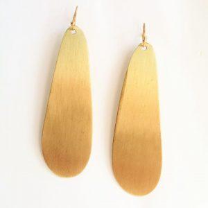Long Drop Golden Earring