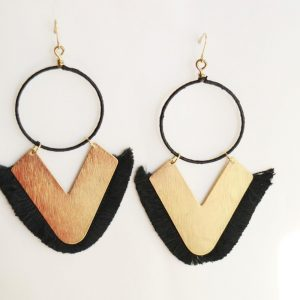 Hoop & V Earring