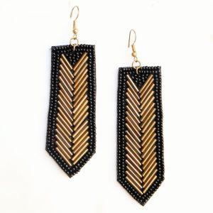 Black Beads Fashion Earrings